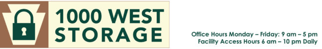 1000 West Storage Logo